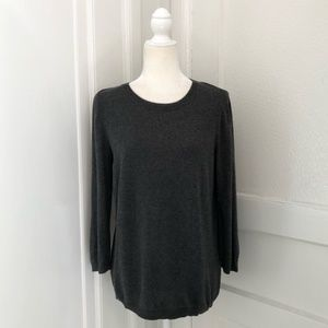 Ann Taylor Crew Neck Sweater in Gray